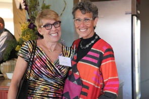 Hestia Vice Chair Barb Rand and Program Administrator Randi Lowenthal