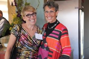 Hestia Vice Chair Barb Rand and Program Administrator Randi Lowenthal