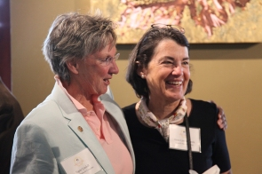 Santa Fe City Councilor Signe Lindell and Hestia Member Anne Liden Steele