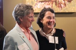 Santa Fe City Councilor Signe Lindell and Hestia Member Anne Liden Steele