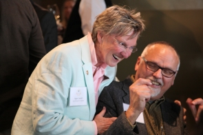 Santa Fe City Councilor Signe Lindell and pianist David Wood