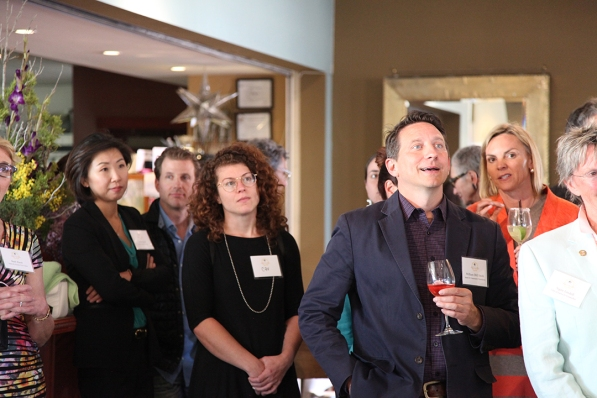 Joohee Rand (Hestia Member and SFCF Vice President), Lee Rand, Cav Cavanaugh, and William (Bill) Smith (Santa Fe Community Foundation) and Wendi Trevasani (Member)