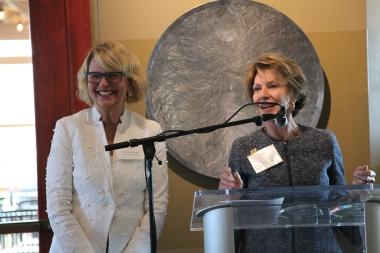 Hestia Chair Yvonne Sininger honoring Hestia Found Susan Priem