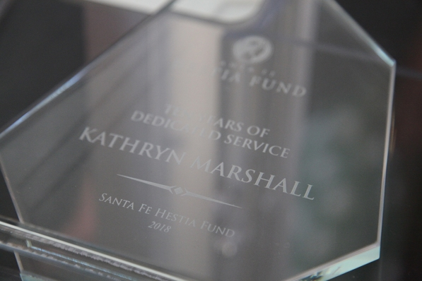 A warm THANK YOU to Kathryn Marshall for 10 years of service as the fund administrator
