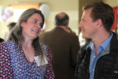 Co-Chair of the Grants Committee Rachel White and Lee Rand