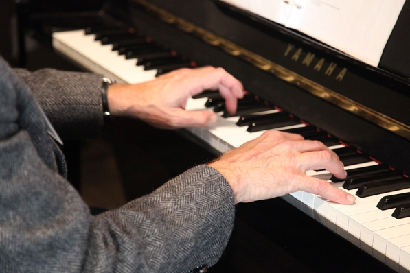 Pianist David Wood volunteered for the event. Thank you David!