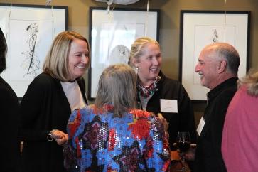 Hestia Members Linda Nelson and Liz Reese with Founding Member Jane Duggan and florist Eric Salter