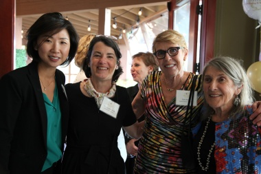 Joohee Rand (Member and Santa Fe Community Foundation Vice President), Anne Linden Steele (Member), Barb Rand (Hestia Vice Chair) and Jan Duggan (Founding Member)